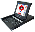 "Oxca KLC-108, 19""LCD Drawer/8-PortCombo CAT5/IP Remote Option 1 U Rack"